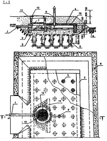 Схема фильтрующей кассеты