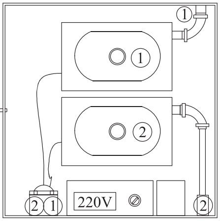 Порядок подключения компрессорного оборудования