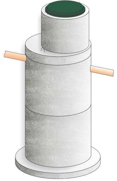 Очистное сооружение из бетонных колец