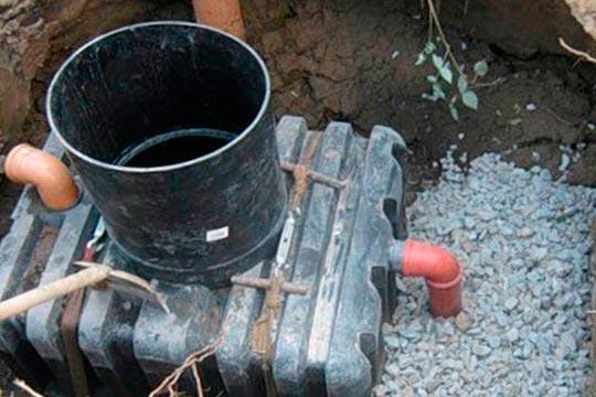 Пример организации монтажа с почвенной доочисткой