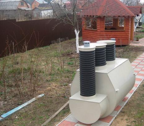Септик Клён-5Н на участке с высоким уровнем грунтовых вод