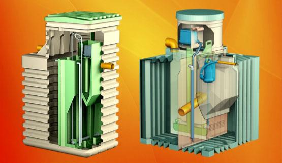 Вертикальное и горизонтальное исполнения септика Биотанк