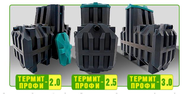 Линейка септиков Термит-Профи