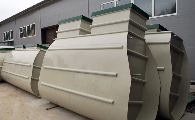 Фото: общий внешний вид оригинальной формы резервуара септика Тверь
