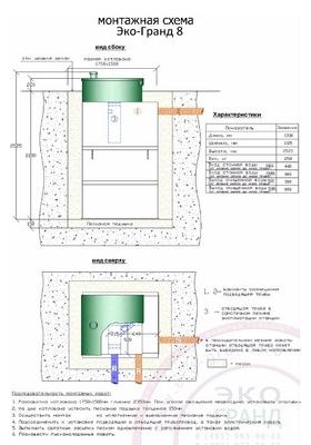 Монтажная схема установки Эко-Гранд 8