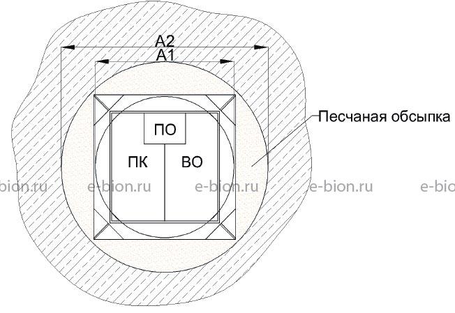 Схема монтажа (вид сверху)